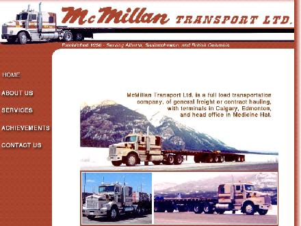 McMillan Transport Ltd (403-264-7802) - Website thumbnail - http://www.mcmillantransport.ca