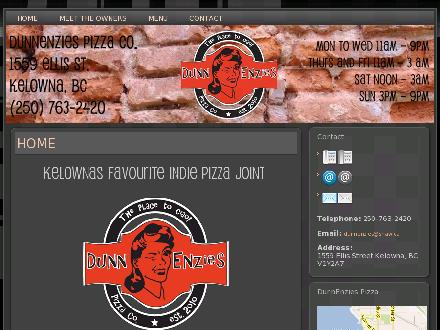 DUNNENZies Pizza (250-763-2420) - Website thumbnail - http://www.dunnenzies.com