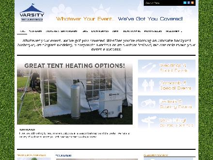 Varsity Tent &amp; Event Rentals (647-931-9424) - Onglet de site Web - http://www.varsitytents.com