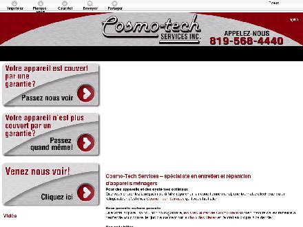Cosmo-Tech Services Inc (819-303-0445) - Onglet de site Web - http://cosmotechreparation.ca/