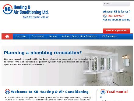 K B Heating & Air Conditioning Ltd (403-332-6266) - Website thumbnail - http://www.kbheating.com