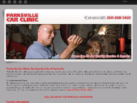 Parksville Car Clinic (250-248-5422) - Website thumbnail - http://parksvillecarclinic.ca/