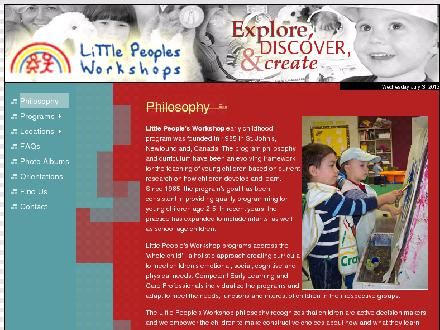 Little People's Workshop (709-739-5496) - Onglet de site Web - http://www.littlepeoplesworkshop.ca