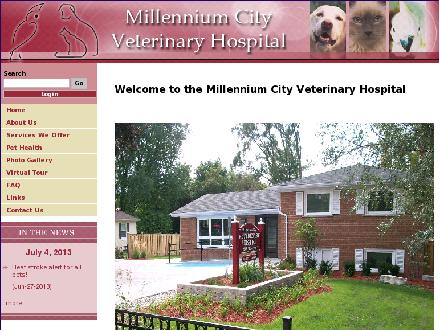 Millennium City Veterinary Hospital (905-420-9555) - Website thumbnail - http://www.millenniumcityvethospital.com