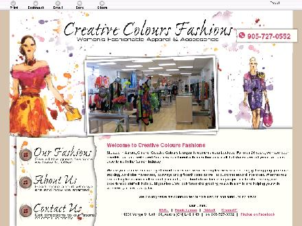 Creative Colours Fashions (905-727-0552) - Onglet de site Web - http://creativecolours.ca/