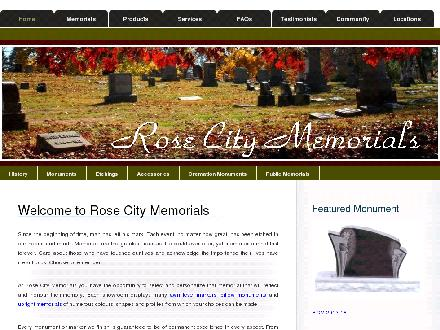 Rose City Memorials Ltd (780-672-9420) - Onglet de site Web - http://www.rosecitymemorials.com