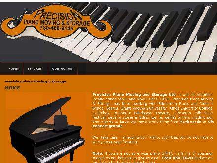 Precision Piano Moving & Storage Ltd (780-468-9145) - Website thumbnail - http://www.precisionpianomovingandstorage.com