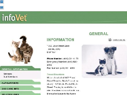 Fraser-MacDonald Animal Hospital (416-531-1175) - Website thumbnail - http://www.frasermac.infovet.ca