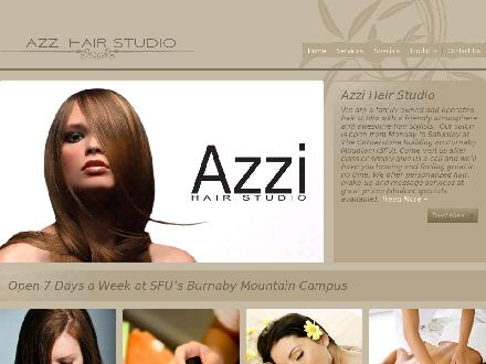Azzi Hair Studio (604-291-7227) - Onglet de site Web - http://www.azzihair.com