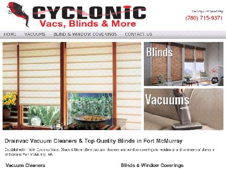 Cyclonic Vacs Blinds &amp; More (780-762-0205) - Website thumbnail - http://www.cyclonic.ca