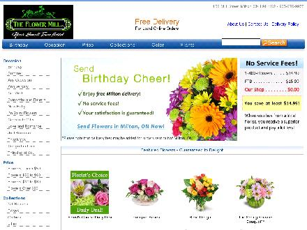 The Flower Mill (905-876-9975) - Website thumbnail - http://www.theflowermill.ca