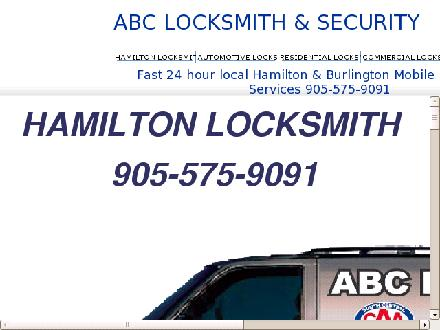 ABC Locksmith & Security (905-575-9091) - Onglet de site Web - http://www.abclock.ca