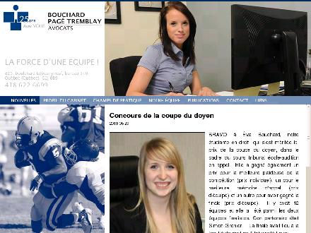 Bouchard Pag&eacute; Tremblay (418-622-6699) - Onglet de site Web - http://www.bouchardpagetremblay.com