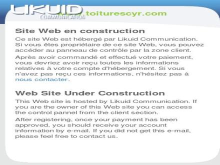 Toitures Cyr (Les) (418-262-7186) - Website thumbnail - http://www.toiturescyr.com