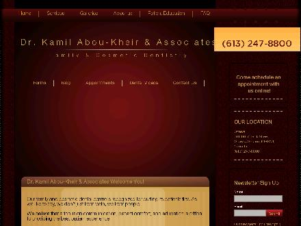 Abou-Kheir Kamil J Dr (613-247-8800) - Onglet de site Web - http://www.drkamil.com