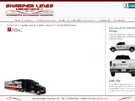 Sharper Lines &amp; Graphics Ltd (403-590-0524) - Onglet de site Web - http://www.sharperlines.com