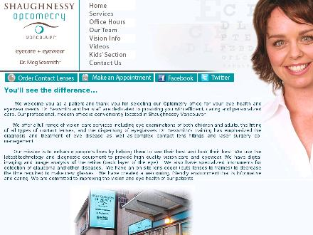 Shaughnessy Optometry (604-677-4100) - Onglet de site Web - http://www.shaughnessyoptometry.com