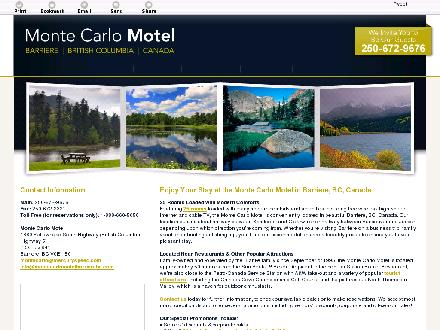 Monte Carlo Motel (250-672-9676) - Onglet de site Web - http://montecarlomotelbarrierebc.com/