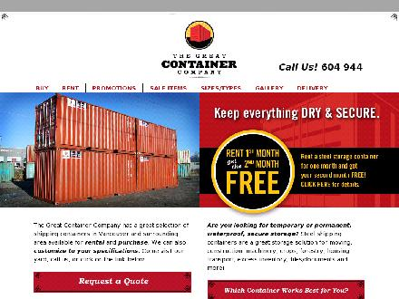 Great Container Co The (604-944-0467) - Onglet de site Web - http://www.greatcontainercompany.com
