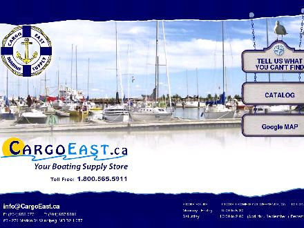 Cargo East Marine Supply (204-956-0771) - Website thumbnail - http://www.cargoeast.ca