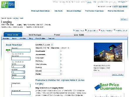 Holiday Inn Express Hotel & Suites Langley (604-882-2000) - Website thumbnail - http://www.hiexpress.com/hotels/us/en/langley/ylgca/hoteldetail