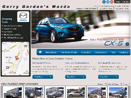Gerry Gordon's Mazda (204-475-3982) - Website thumbnail - http://www.ggmazda.ca