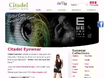 Citadel Eyewear Atlantic Vision Group (506-855-1199) - Website thumbnail - http://www.citadeleyewear.ca