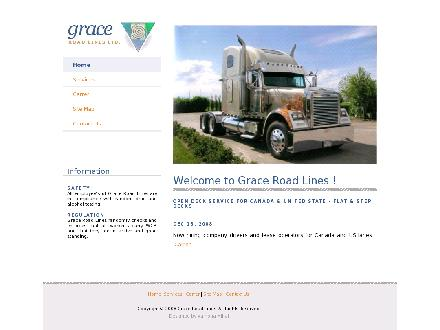 Grace Roadlines Ltd (403-272-3355) - Website thumbnail - http://www.graceroadlines.com
