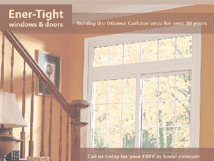 Ener-Tight Windows &amp; Doors (613-833-1671) - Onglet de site Web - http://WWW.ENERTIGHTWINDOWS.CA