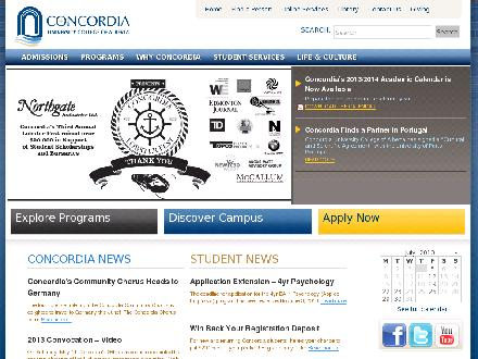 Concordia University College Of Alberta (780-479-8481) - Onglet de site Web - http://www.concordia.ab.ca
