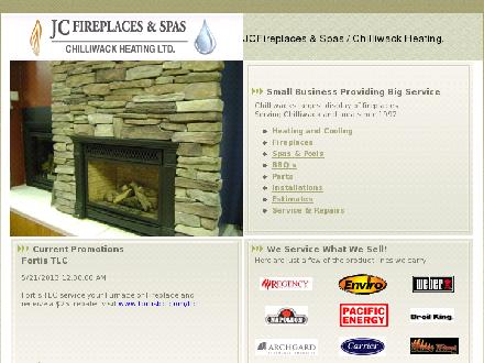 JC Fireplaces & Spas (604-793-7871) - Website thumbnail - http://www.jcfireplaces.ca
