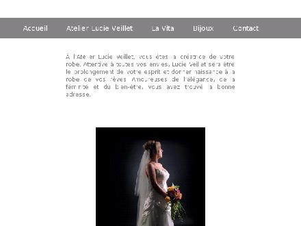 Atelier Lucie Veillet (819-244-5159) - Onglet de site Web - http://www.atelierlucieveillet.com
