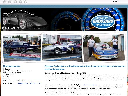 Brossard Performance Inc (418-872-3376) - Onglet de site Web - http://brossardperformance.ca/