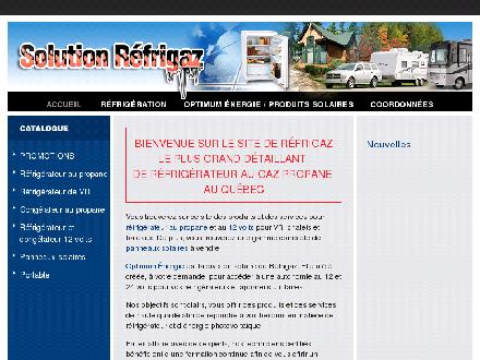 Solution Réfrigaz (450-469-2999) - Website thumbnail - http://www.refrigaz.com