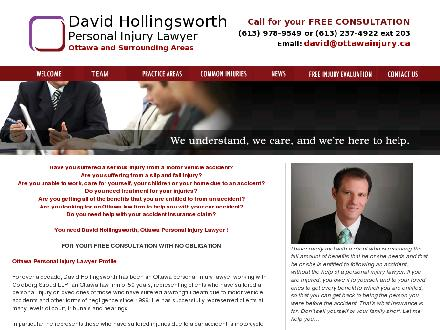 Hollingsworth David (613-800-1138) - Website thumbnail - http://www.ottawainjury.ca