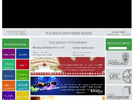 Broadway Church (604-253-2700) - Onglet de site Web - http://www.broadwaychurch.com