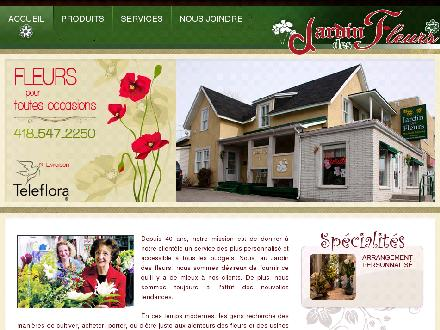 Jardin Des Fleurs Enr (418-547-2250) - Onglet de site Web - http://www.jardindesfleurs.ca
