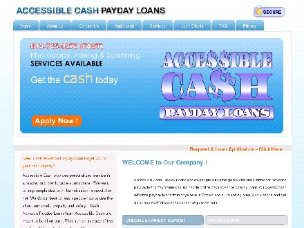 Accessible Cash Payday Loans (613-745-3278) - Onglet de site Web - http://www.accessiblecash.ca