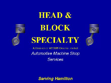 Head &amp; Block Specialty (905-664-1600) - Onglet de site Web - http://www.headandblockspecialty.com