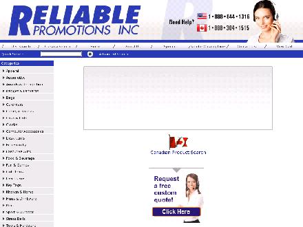 Reliable Promotions (416-251-9774) - Website thumbnail - http://www.reliablepromo.com/