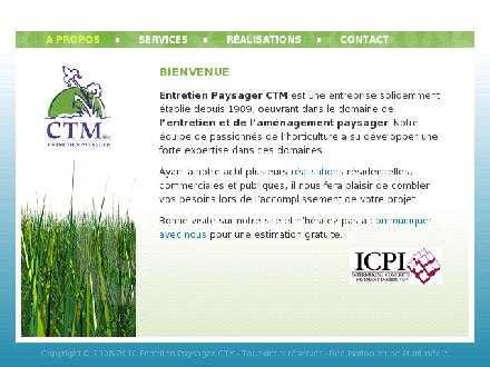 Entretien Paysager C T M Inc (418-848-6572) - Website thumbnail - http://www.ctmpaysage.com