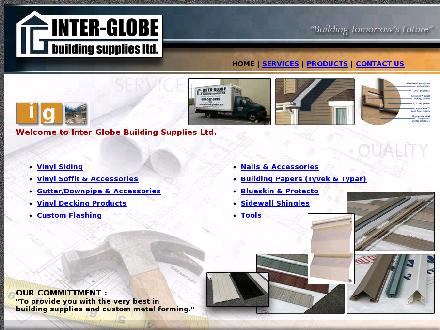 Inter-Globe Building Supplies Ltd (604-572-6799) - Onglet de site Web - http://www.inter-globe.ca