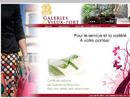 Centre Commercial Les Galeries Du Vieux Fort (418-837-4934) - Onglet de site Web - http://www.galeriesduvieuxfort.ca