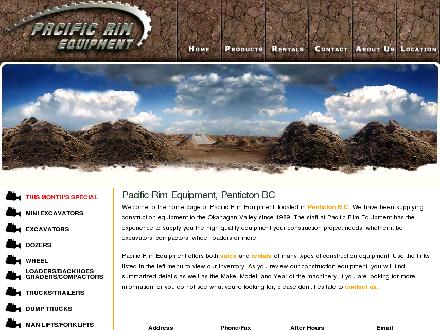 Pacific Rim Equipment Inc (250-487-3864) - Website thumbnail - http://www.pacificrimequipment.com