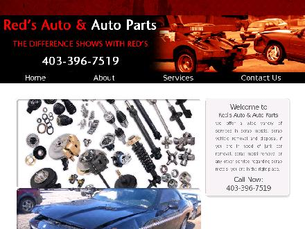 Red's Auto & Auto Parts (403-396-7519) - Website thumbnail - http://www.redsautoparts.ca