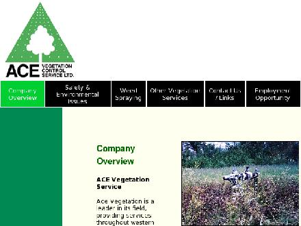 Ace Vegetation Control Service Ltd (780-955-8980) - Onglet de site Web - http://www.acevegetation.com