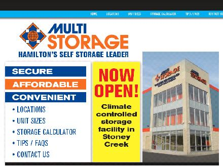 Multi Storage (905-574-7867) - Website thumbnail - http://www.multistorage.ca