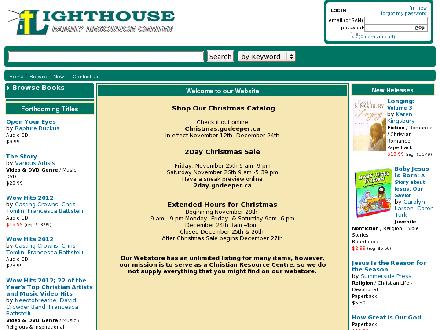 Lighthouse Family Resource Centre (506-453-1010) - Onglet de site Web - http://www.lighthousebookstore.ca