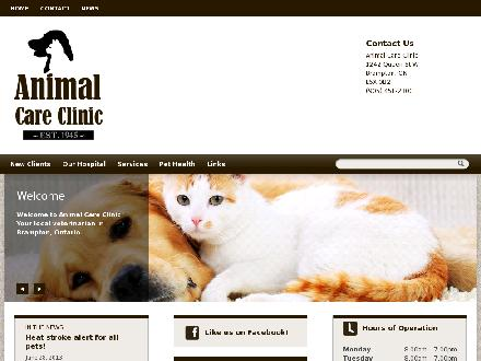 Animal Care Clinic (905-451-2800) - Onglet de site Web - http://www.AnimalCareClinicBrampton.com
