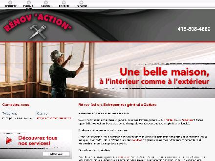 R&eacute;nov Action (418-808-4662) - Onglet de site Web - http://renovactionquebec.ca